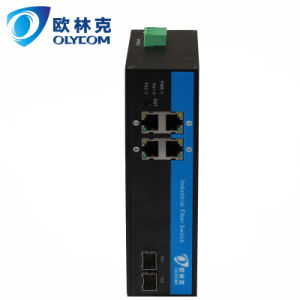 4 Poe RJ45 Ports and 2 Fiber SFP Ports Poe Switch Industrial POE Switch