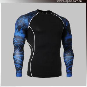 3D Sublimation Printing Seamless Spandex Lycra Compression Garments Rash Guard Wholesale