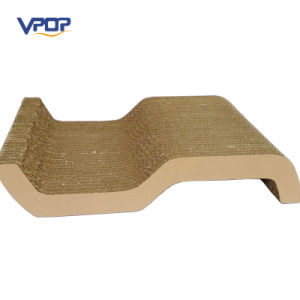 Shenzhen Pet Supplier S Shaped Cat Bed Toy Cat Scratcher Lounge Board