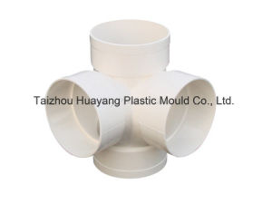 Plastic Four Way Pipe Fitting Mould (HY131) pictures & photos