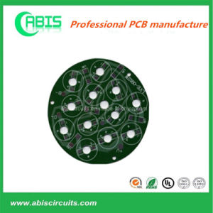 Round Shape Aluminum Base PCB with Green Solder pictures & photos