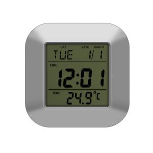 Dcf Rcc Digital Mini Alarm Clock with LED Backlight and Temperature pictures & photos