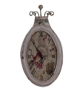 Popular Antique Oval White Wall Clock Craft Gifts