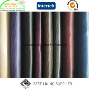 100% Polyester Two Tone Satin Dobby Lining Men′s Suit Lining Fabric pictures & photos
