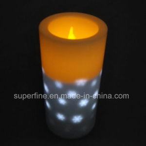 Plastic Fire Safe Battery Operated Bedroom Use Night Long Use Soft Color Changing Lighting LED Candles pictures & photos