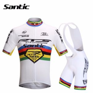 6888477c1 China Santic Cycling Jerseys Sets Mens Bike Riding MTB Short Sleeve Cycling  Suit White Cycling Team Clothing Summer M5CT053W - China Cycling Kits