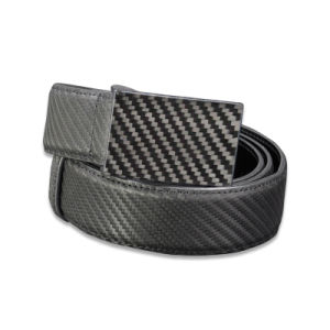 High Quality Customized Fashion Man Belts with Printing Carbon Buckle