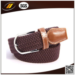 Deep Coffee Color Woven Elastic Stretch Belts (HJ5112)
