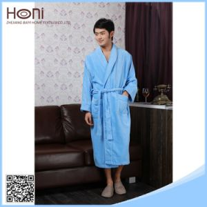 Mens Long Dressing Gown Plain Woven Men Cheap White Cotton Hotel Bathrobe
