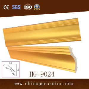 Gold PU Cornice Moulding Manufacturer PU Ceiling Decorative Cornice