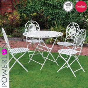 Vintage Wedding Patio Set Outdoor Folding Table And Chairs