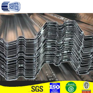 Galvanized 150G/M2 zinc coated corrugated steel sheets/deck floor plates in China pictures & photos