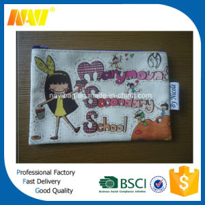 Heat Transfer Printing Canvas Cheap Pencil Bag