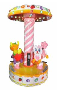Coin Operated 3 Bits Carousel Kiddie Rides