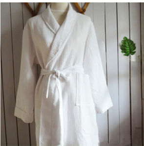 Cotton Velour Bath Robe for Hotel Pajamas Nightgown (DPF10146) pictures & photos