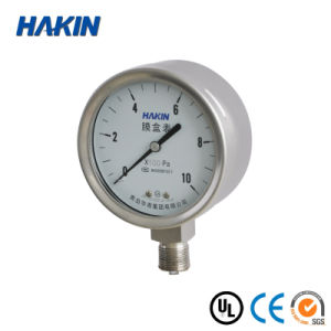 304 Slicone Oil Filled Stainless Steel Capsule Pressure Gauge