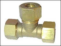 Plain Brass Tee Fittings with O Rings for Coupling pictures & photos
