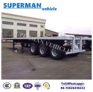 40FT 3 Axle Tractor Flatbed Container Semi Trailer pictures & photos