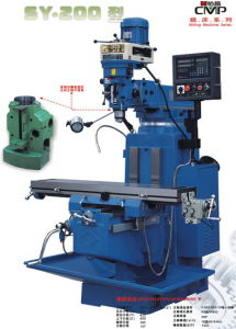 Universal Milling Machine with CE Approved (SY-2001)