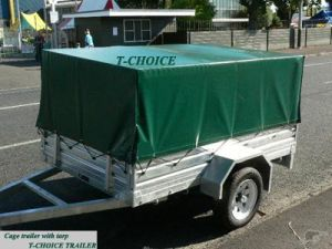 Cage Trailer with Tarp