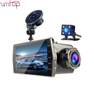 """Dual Lens Car DVR Auto Camera WDR Dash cam 4/""""IPS FHD 1080P Video Registrator"""