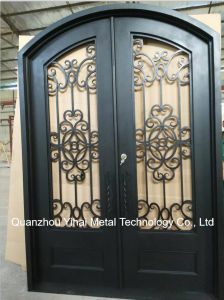 Arched Wrought Iron Entry Doors Single Double Exterior Front