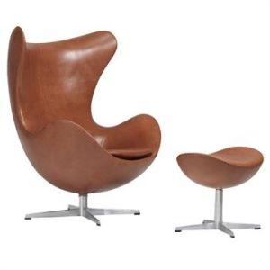 Enjoyable Replica Arne Jacobsen Modern Design Fiberglass Leather Egg Swivel Chair Pabps2019 Chair Design Images Pabps2019Com