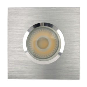 Lathe Aluminum GU10 MR16 Square Fixed Recessed LED Shower Down Light (LT2901) pictures & photos