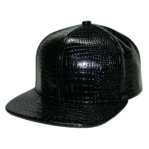 Blink Snakeskin PU Fabric Snapback Hat pictures & photos