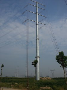 Galvanized Tubular Electric Power Transmission Tower