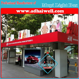 Bus Stop Shelter Road Side Mupi Light Box pictures & photos