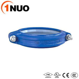for Drinking Water Blue Ductile Iron Pipe Fittings Grooved Coupling pictures & photos