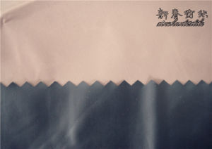 Nylon Taffeta for Garment with Black Plastic