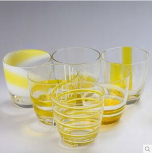 Mouth Blowing Glass Cups. Colorful Shot Glass