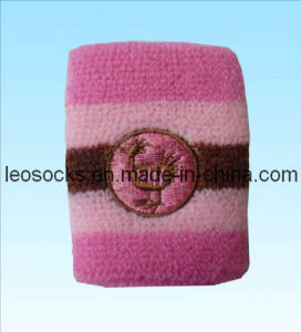 Embroidery Sport Cotton Wristband (DL-WB-04) pictures & photos
