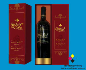Wine Bottle Paper Packaging Boxes (OEM-BX019) pictures & photos