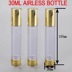 30ml Golden Skin Serum/Toner Cosmetic Plastic Airless Bottle pictures & photos