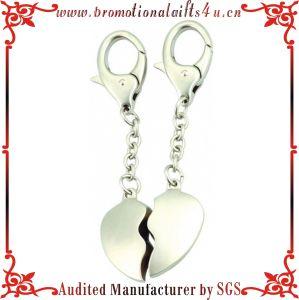Wedding Gift Heart Shape Lovers Keychain with Custom Made Name (JY-MK-030 d2cffef0e