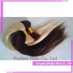 Ash Blond 100% Malaysian Indian Human Hair Bulk pictures & photos