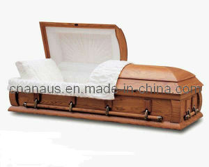 US Style Solid Ash Wood Casket 40h0013 pictures & photos