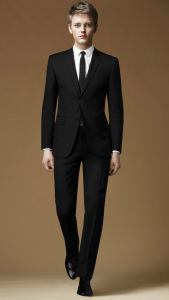 Black Men′s Bespoke Wedding Dress Groom Suits