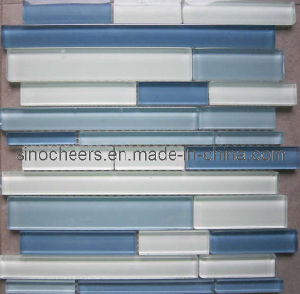 Brick Blue Crystal Glass Mosaic Tile pictures & photos