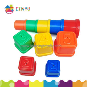 Educational Toy, Plastic Sorting Stacking Cups Toy for Kindergarten pictures & photos