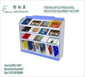 Wooden Bookshelf For Preschool Kindergarten Kids Furniture