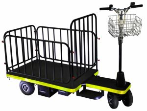 5ee4f2c85f33 Electric Utility Airport Luggage Trolley (DH-PS1-C8 Light Duty Full Fence,  Curtis Controller, 800W Motor)