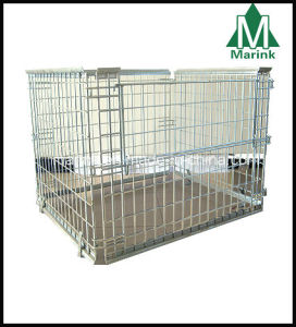 Warehouse Stackable Steel Wire Mesh Pallet Cage / Storage Cage pictures & photos
