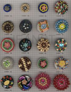 Beads Covered Button/Buckle for Garment