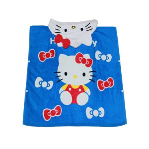 KIDS /& ADULT WHITE PRO BOX HOODED TOWELING PONCHO