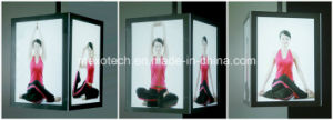 Ceiling Hanging Acrylic Photo Frame Slim LED Light Box with Magnetic Open pictures & photos