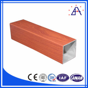Multiple Choice Wooden Transferred Aluminium Extrusion Profile pictures & photos